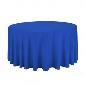 132 in. Round Royal Blue