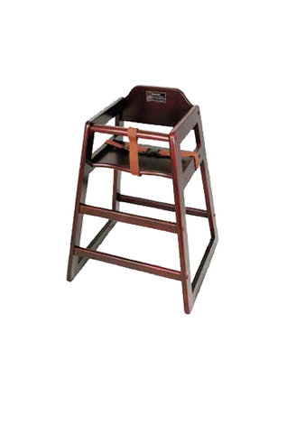 Child's Wooden High Chair w/ Strap