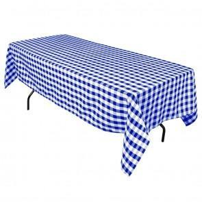60 x 102 in. Blue/White Check