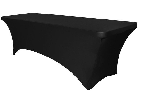 6' Spandex Table Cover - BLACK