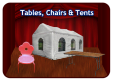 Tables Chairs and Tents