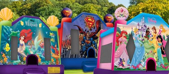 character themed bouncer rental