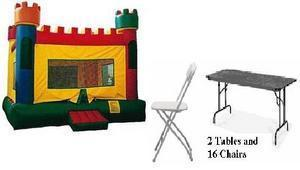 Castle Fun Pack 6 w/ 2 tables and 16 chairs
