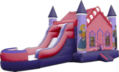 Princess Jump w/ water slide (can be used wet or dry)