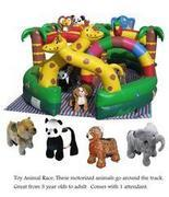 Jungle Animal Race Track with 4 Motorized Animals