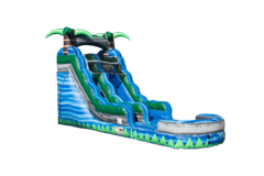15 Foot Blue Crush Water Slide