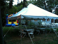20ftx20ft Pole Tent and 6 tables and 36 chairs