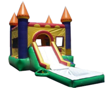 Castle w/ Slide and hoops and water tub