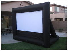 Movie Screen with Projector
