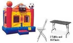 Sports Jump Fun Combo 6 w/ 2 tables and 16 chairs