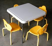 Kids Table w/ 4 Yellow Chairs