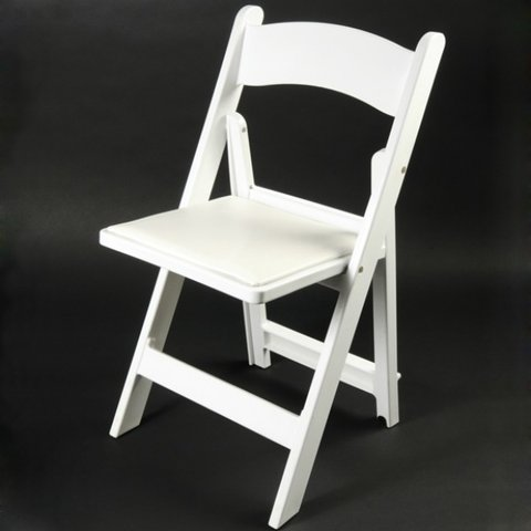 Adult White Resin Chair