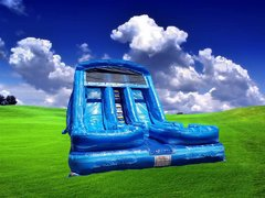 18'ft Great Blue Marble Water Slide Dual Lane