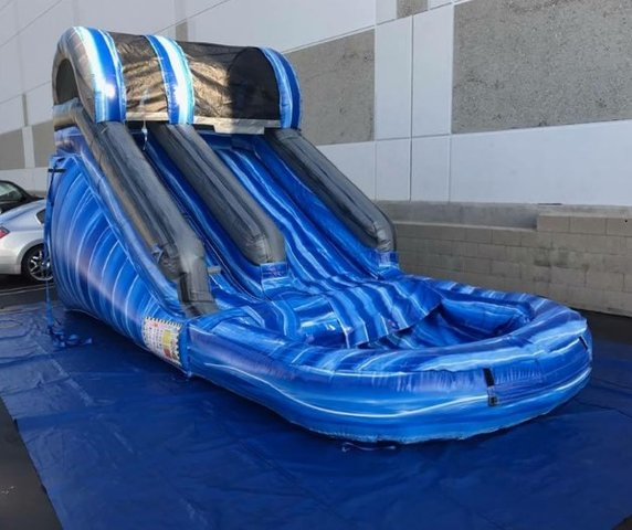 12' Blue Mini Water Slide