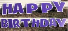 Happy Birthday- Purple
