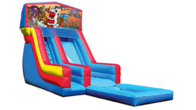 18' Santa Modular Water Slide with Pool