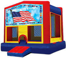 USA Flag Modular Bounce House