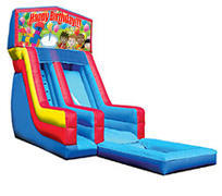 18' Happy Birthday Modular Water Slide with pool