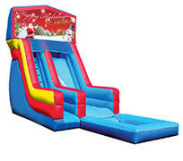 18' Happy Holidays Modular Water Slide with pool