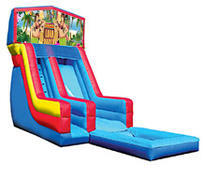 18' Luau Modular Water Slide with pool