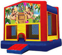 Luau Modular Bounce House