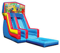 18' Sesame Street Modular Water Slide with pool