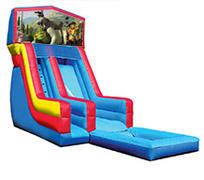 18' Shrek Modular Water Slide with Pool