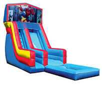 18' Spiderman Modular Water Slide with pool