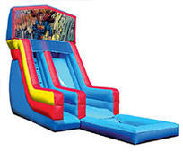 18' Superman Modular Water Slide with pool
