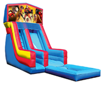 18' Incredibles Modular Water Slide with Pool