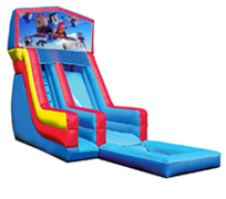 18' Tots Modular Water Slide with Pool