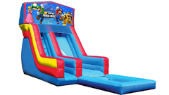 18' Super Mario Bros Modular Water Slide with Pool