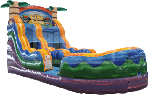 18' Tiki Plunge Water Slide