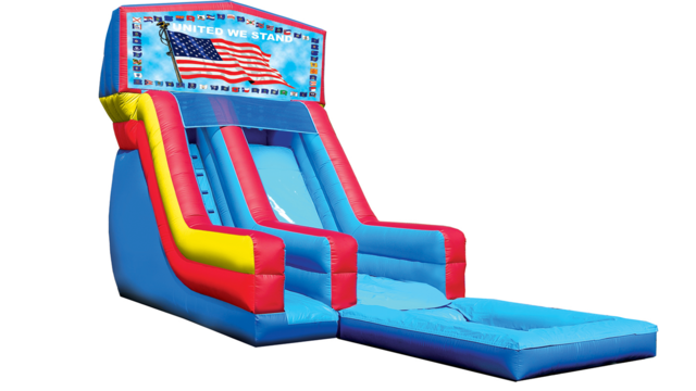18' USA Flag Modular Water Slide with Pool