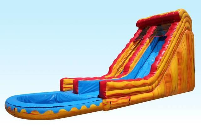 Volcano Lava 18ft' Water Slide w/ Pool