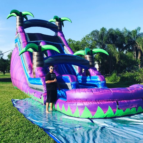 Paradise Fall 18ft' Water Slide w/ Pool