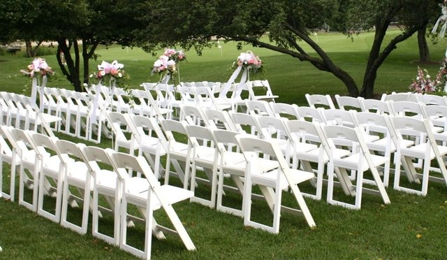 White Resin Folding Chairs