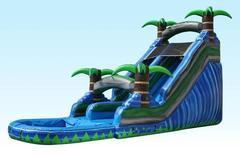 Tropical Paradise 18ft' Water Slide w/ Pool
