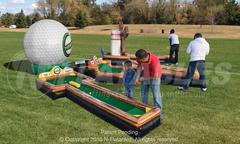 3-Hole Inflatable Mini Golf