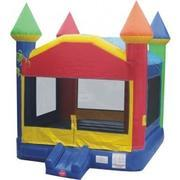 Rainbow Castle Bounce House Pkg 1