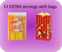 EXTRA Popcorn Servings with Bags