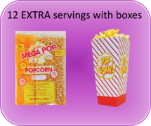 Extra Popcorn Servings with Boxes