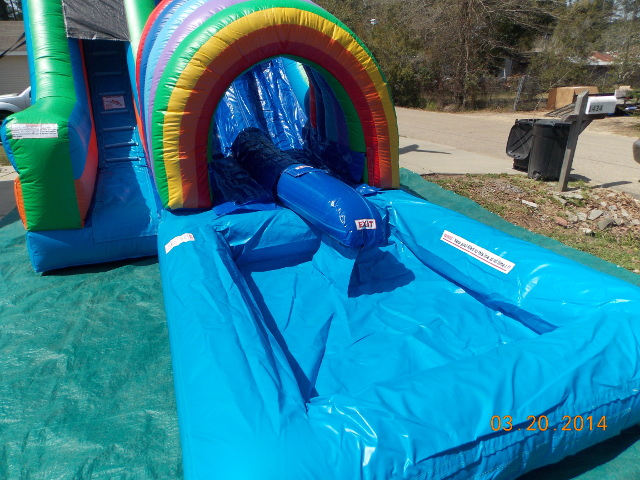 Double Funnel Tunnel Water Slide Pool