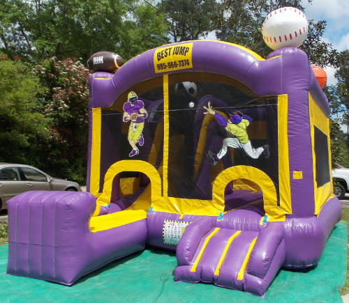 LSU Sports 4in1 Combo Bounce House Exterior