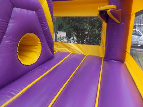 LSU Sports 4in1 Combo Bounce House Interior