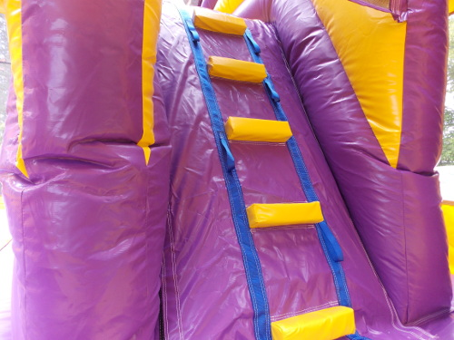 LSU Sports 4in1 Combo Bounce House Steps