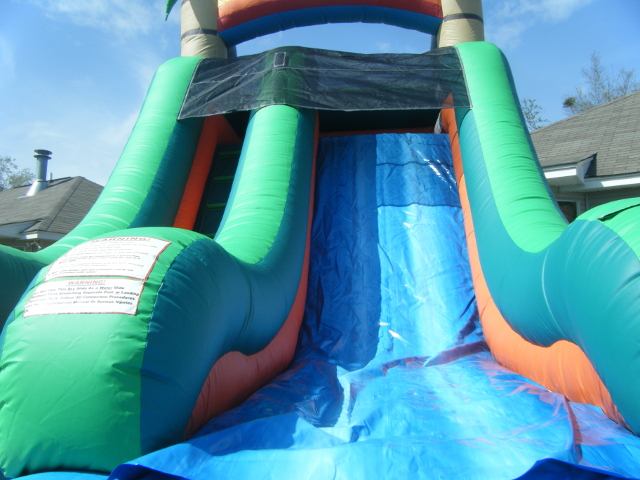 Tropical Splash Water Slide front view
