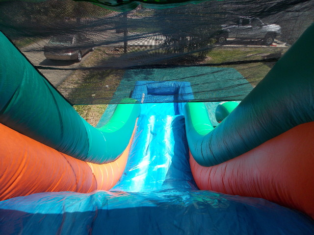 Tropical Splash Water Slide top view