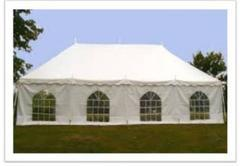 20x40 Pole Tent w/ Sidewalls w/Windows