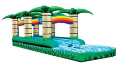 Tropical 2 Lane Slip n Splash Slide